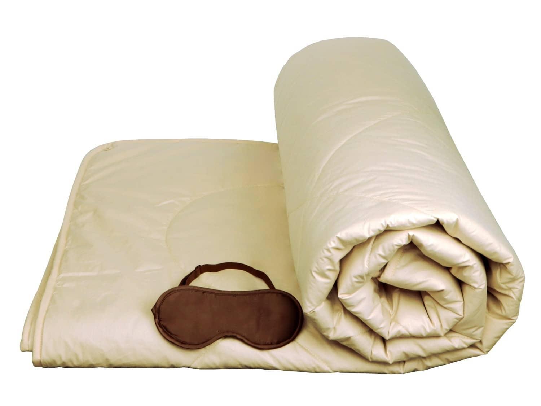 Summer Weight Camel Wool Comforter Washable Lightweight
